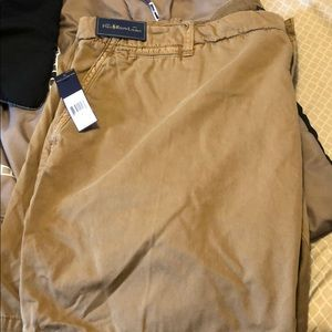 Polo Ralph Lauren shorts. Tan